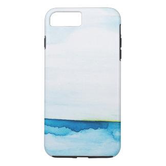 Capa iPhone 8 Plus/7 Plus A aguarela instantânea verde do oceano