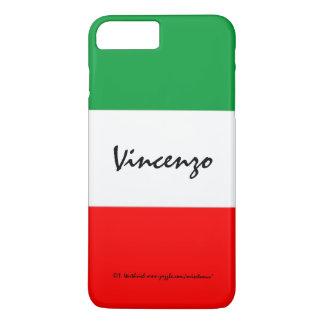 Capa iPhone 8 Plus/7 Plus A bandeira italiana colore branco verde e o