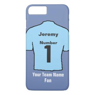 Capa iPhone 8 Plus/7 Plus A camisa leve do futebol dos azul-céu escolhe o