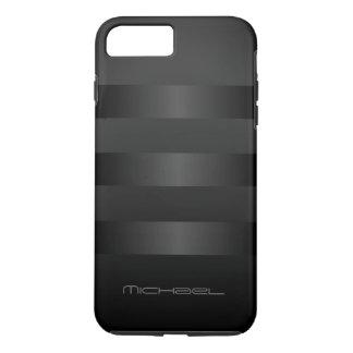 Capa iPhone 8 Plus/7 Plus A cinza preta listra o monograma do teste padrão