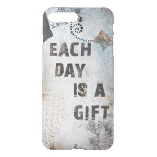 Capa iPhone 8 Plus/7 Plus A colagem moderna cada dia é umas citações do