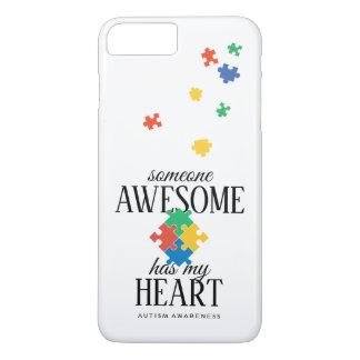 Capa iPhone 8 Plus/7 Plus A consciência do autismo alguém impressionante tem