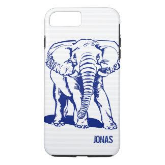 Capa iPhone 8 Plus/7 Plus A lápis bonito desenho do elefante dos azuis