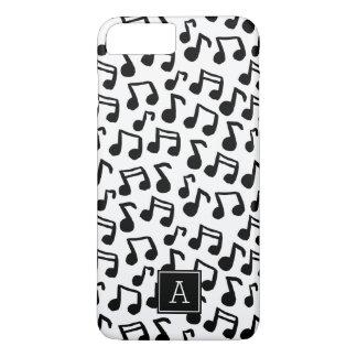 Capa iPhone 8 Plus/7 Plus A música formal do Doodle nota o monograma