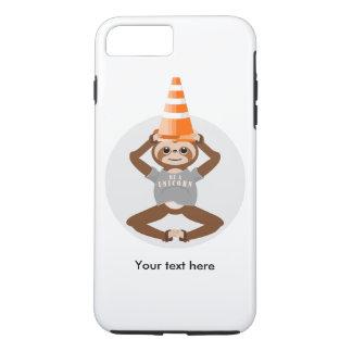 Capa iPhone 8 Plus/7 Plus A preguiça engraçada seja um unicórnio