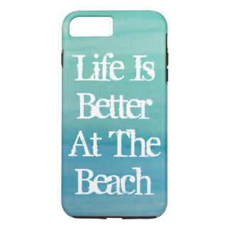 Capa iPhone 8 Plus/7 Plus A vida é melhor nas citações bonitos da praia