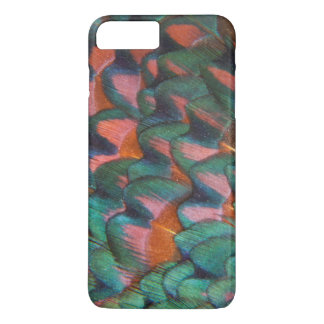 Capa iPhone 8 Plus/7 Plus Abstrato colorido das penas do faisão
