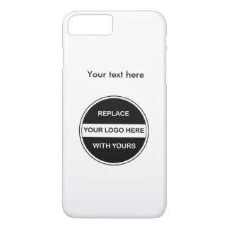 Capa iPhone 8 Plus/7 Plus Adicione seu logotipo do negócio