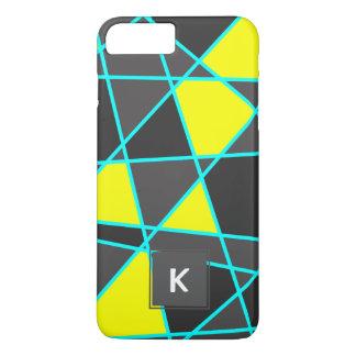 Capa iPhone 8 Plus/7 Plus amarelo de néon brilhante geométrico elegante e