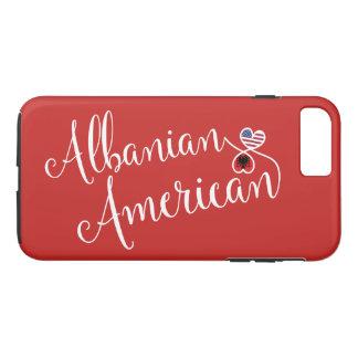 Capa iPhone 8 Plus/7 Plus Americano albanês caso entrelaçado do telemóvel