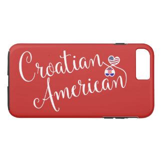 Capa iPhone 8 Plus/7 Plus Americano croata caso entrelaçado do telemóvel dos