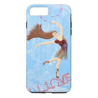 Capa iPhone 8 Plus/7 Plus Amor do inverno, dança azul gelada da bailarina