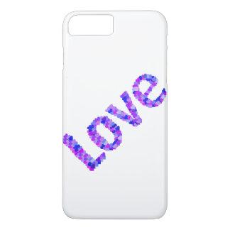 Capa iPhone 8 Plus/7 Plus Amor nos corações brilhantes & em | vívido roxo,