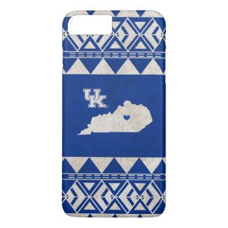 Capa iPhone 8 Plus/7 Plus Amor tribal do estado de Kentucky |