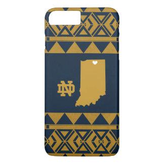 Capa iPhone 8 Plus/7 Plus Amor tribal do estado de Notre Dame |