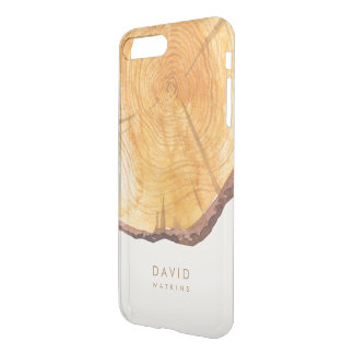 Capa iPhone 8 Plus/7 Plus Anéis pintados da floresta personalizados