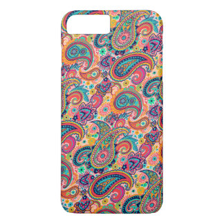 Capa iPhone 8 Plus/7 Plus Arco-íris brilhante Paisley