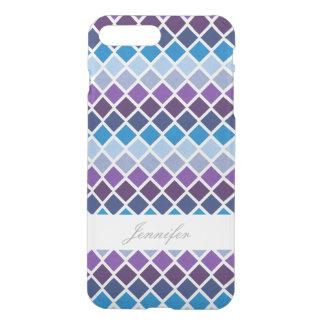 Capa iPhone 8 Plus/7 Plus Argyle chique com caso conhecido