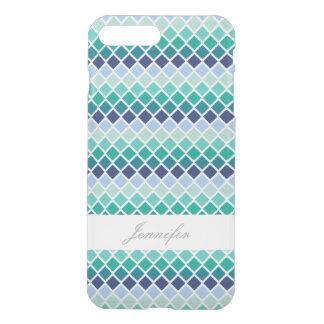 Capa iPhone 8 Plus/7 Plus Argyle verde chique com caso conhecido