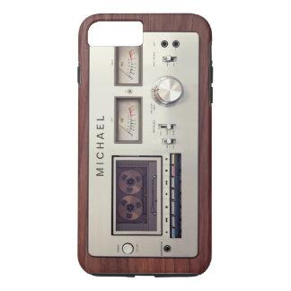 Capa iPhone 8 Plus/7 Plus Armário de madeira do registrador estereofónico