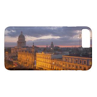 Capa iPhone 8 Plus/7 Plus Arquitectura da cidade no por do sol, Havana, Cuba