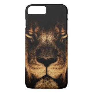 Capa iPhone 8 Plus/7 Plus Arte africana da cara do leão