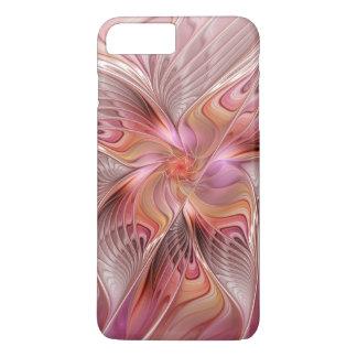 Capa iPhone 8 Plus/7 Plus Arte colorida do Fractal da fantasia da borboleta