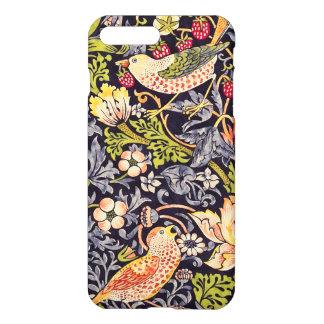 Capa iPhone 8 Plus/7 Plus Arte floral Nouveau do ladrão da morango de