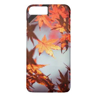 Capa iPhone 8 Plus/7 Plus Árvore de bordo vermelha das folhas de outono da