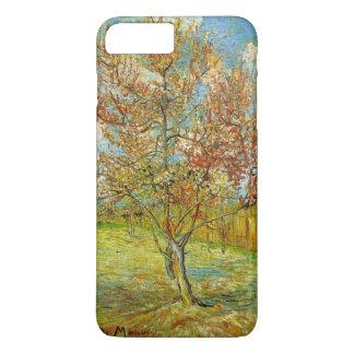 Capa iPhone 8 Plus/7 Plus Árvore de pêssego cor-de-rosa de Van Gogh na flor,