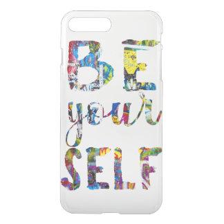 Capa iPhone 8 Plus/7 Plus As citações inspiradores sejam você mesmo