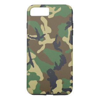Capa iPhone 8 Plus/7 Plus As forças armadas camuflam o teste padrão