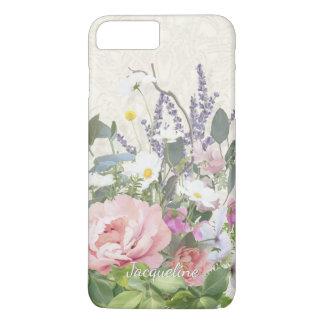 Capa iPhone 8 Plus/7 Plus Ate as flores selvagens florais de w da peônia