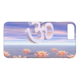 Capa iPhone 8 Plus/7 Plus Aum - OM em cima dos waterlilies - 3D rende