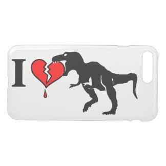 Capa iPhone 8 Plus/7 Plus Aviso! o dinossauro come o coração