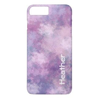Capa iPhone 8 Plus/7 Plus Azul abstrato do costume, Lilac, cor-de-rosa