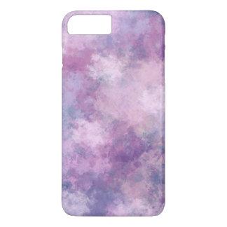 Capa iPhone 8 Plus/7 Plus Azul abstrato, Lilac, pintura acrílica cor-de-rosa