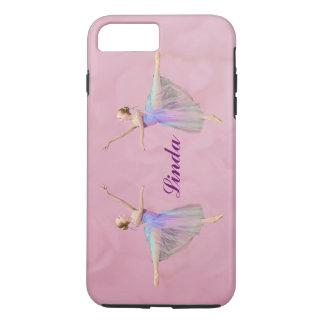 Capa iPhone 8 Plus/7 Plus Bailarina no Arabesque, nome customizável