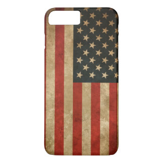 Capa iPhone 8 Plus/7 Plus Bandeira americana do Grunge do vintage - EUA