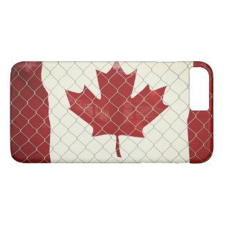 Capa iPhone 8 Plus/7 Plus Bandeira canadense. Cerca do elo de corrente.