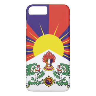 Capa iPhone 8 Plus/7 Plus Bandeira da bandeira do leão de Tibet ou de neve