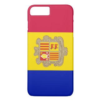 Capa iPhone 8 Plus/7 Plus Bandeira de Andorra