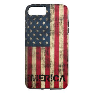 Capa iPhone 8 Plus/7 Plus Bandeira de Merica do Grunge personalizado do