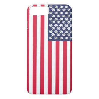 Capa iPhone 8 Plus/7 Plus bandeira Estados Unidos u do símbolo do dólar do