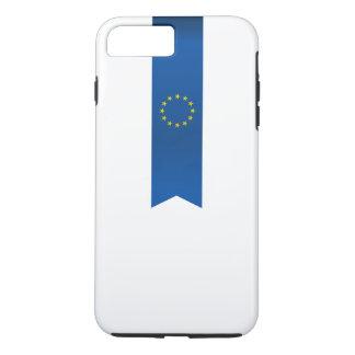 Capa iPhone 8 Plus/7 Plus Bandeira européia abstrata, fita de Europa