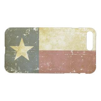 Capa iPhone 8 Plus/7 Plus Bandeira patriótica gasta do estado de Texas