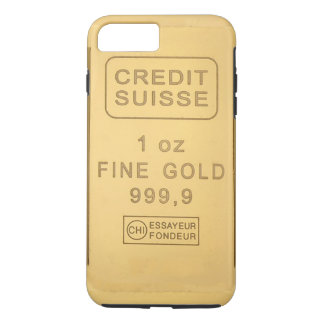 Capa iPhone 8 Plus/7 Plus Bar de ouro de Swidd