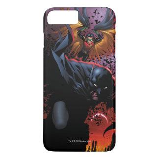 Capa iPhone 8 Plus/7 Plus Batman & vôo do pisco de peito vermelho sobre
