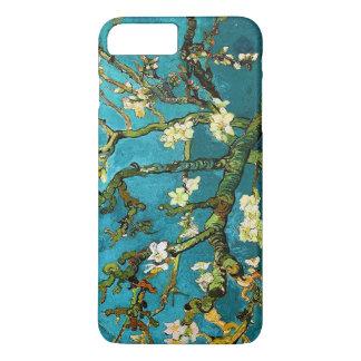 Capa iPhone 8 Plus/7 Plus Belas artes de florescência da árvore de amêndoa