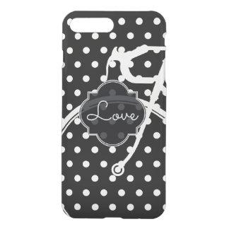 Capa iPhone 8 Plus/7 Plus Bicicleta desportiva do polkadot para o amor